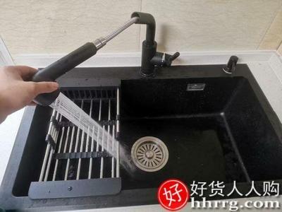 interlace,1# - 德国汉摩石英石水槽单槽,厨房洗菜盆洗碗池大号加厚台下上手工单盆