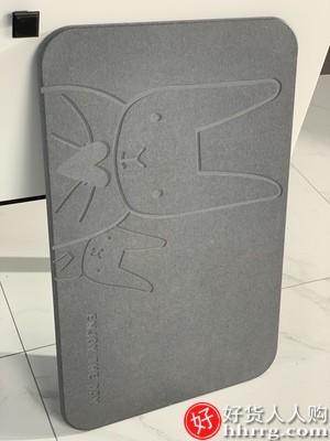 interlace,1# - 佳帮手硅藻泥吸水垫浴室防滑地垫,家用卫生间速干洗手台进门口厕所脚垫