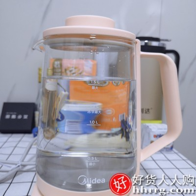 interlace,1# - 美的家用多功能养生壶,迷你小型全自动加厚玻璃煮茶壶煮茶器MK-Y11X