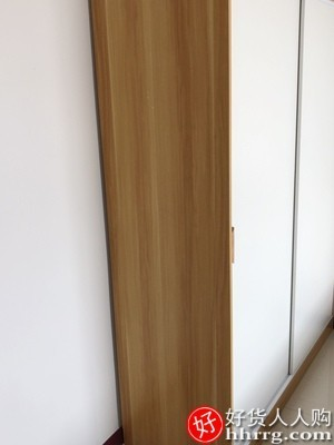 interlace,1# - 明置岚推拉门衣柜,卧室家用实木质收纳柜组装小户型简约衣橱