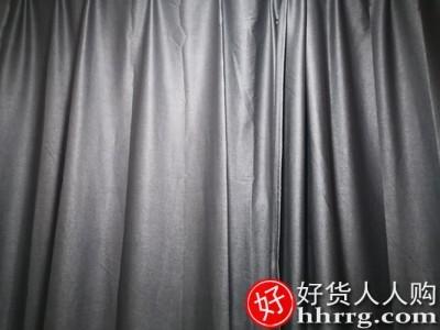 interlace,1# - 帛易全遮光卧室窗帘,隔音专业降噪挂钩式加厚棉麻遮阳成品