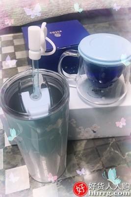interlace,1# - 咖世家COSTA保温吸管杯,不锈钢水杯大容量随行杯子
