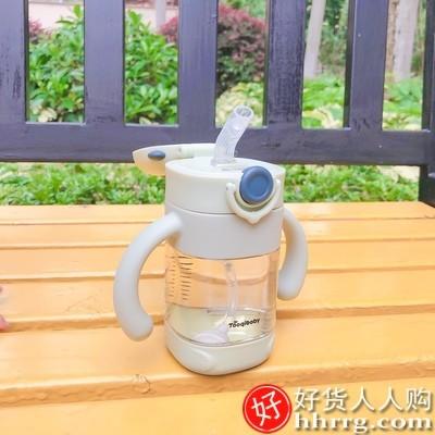 interlace,1# - 淘气宝宝ppsu学饮杯,婴儿儿童奶瓶宝宝吸管鸭嘴水杯