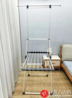 interlace,1# - 佳帮手家用阳台外凉衣架,室内晾婴儿服落地折叠杆挂晒被子神器