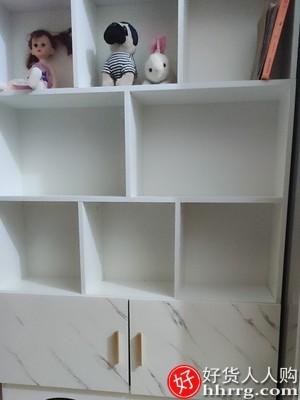 interlace,1# - 沐语缘书架落地置物架,客厅简易儿童书柜收纳架实木小型书橱