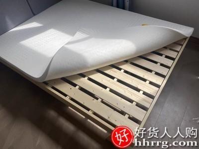 interlace,1# - 大树林现代简约实木床,主卧双人床软包单人出租房床架经济型