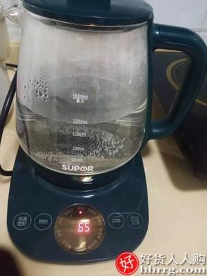 interlace,1# - 苏泊尔家用全自动玻璃养生壶,电煮茶壶加厚煮茶器多功能养身烧水壶