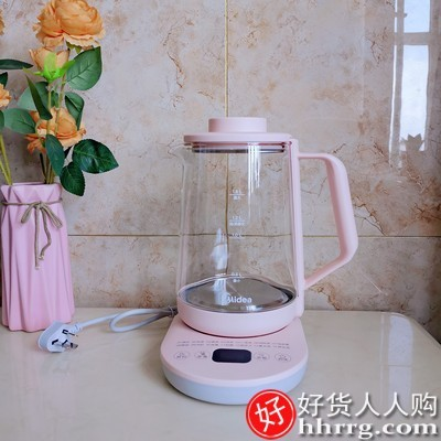 interlace,1# - 美的家用多功能养生壶,小型全自动加厚玻璃煮茶壶煮茶器
