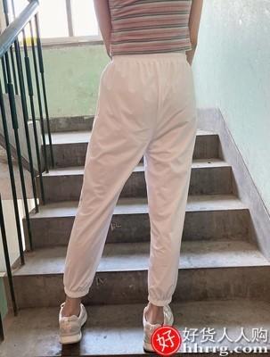 interlace,1# - 兰梦娅冰丝速干运动裤女,夏季宽松束脚薄款休闲九分哈伦灯笼裤