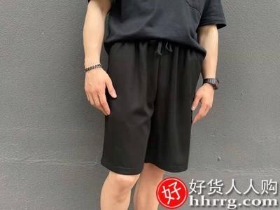 interlace,1# - 奢修夏季外穿篮球运动短裤男,ins薄款速干冰丝裤子西装五分裤