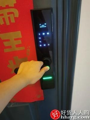 interlace,1# - 申猫指纹锁家用智能门锁电子锁X12,带监控摄像头防盗门可视猫眼密码锁