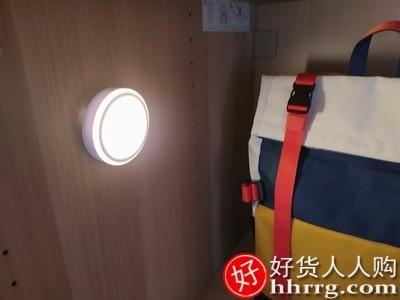 interlace,1# - 万火智能人体自动感应小夜灯,充电式卧室厕所卫生间专用家用楼道声控灯