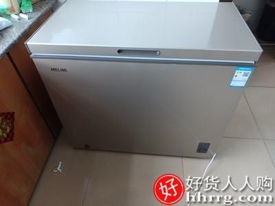 interlace,1# - 美菱201升冰柜,家用商用小型卧式冰箱两用冷藏冷冻大容量单温冷柜