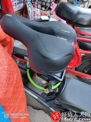 interlace,1# - 夜驴骑自行车坐垫座鞍,山地车座椅超软加厚硅胶坐鞍通用座子