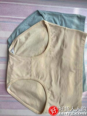 interlace,1# - 北极绒女士内裤,100%全棉裆夏季纯棉抗菌大码高腰三角短裤头