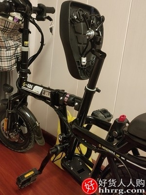 interlace,1# - 哥得圣折叠电动自行车E2,小型代驾代步电动车超轻锂电池助力电瓶车