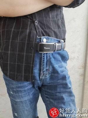 interlace,1# - 啄木鸟男士皮带,真皮自动扣腰带中年青年商务牛皮裤带