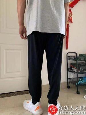 interlace,1# - 迈特优工装裤男,冰丝薄款休闲长裤宽松束脚卫裤秋装九分运动裤