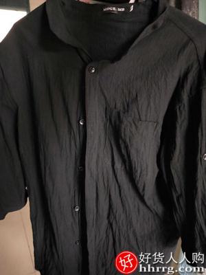 interlace,1# - 时光噜噜亚麻衬衫短袖衬衣男,中国风夏季棉麻男士休闲外套长袖上衣