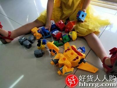 interlace,1# - 锦江百变校巴歌德六合一校车,变形消防汽车机器人磁力拼装儿童玩具